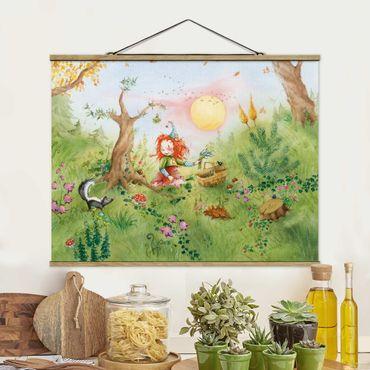 Foto su tessuto da parete con bastone - Frida Gathers Erbe - Orizzontale 3:4
