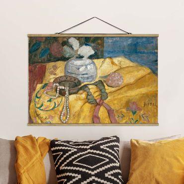 Foto su tessuto da parete con bastone - Paula Modersohn-Becker - Natura Morta Con Le Perle - Orizzontale 2:3