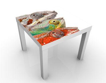 Tavolino design Colorful Chameleons