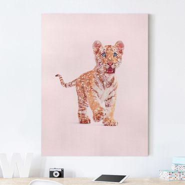 Stampa su tela - Tiger con glitter - Verticale 4:3