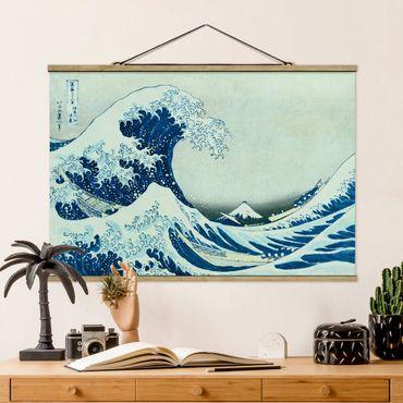 Foto su tessuto da parete con bastone - Katsushika Hokusai - La grande onda a Kanagawa - Orizzontale 2:3