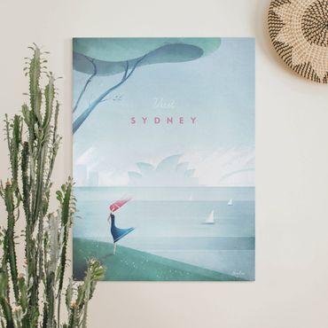 Stampa su tela - Poster Viaggi - Sidney - Verticale 4:3