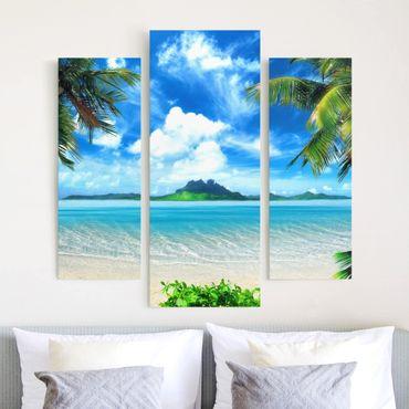 Stampa su tela 3 parti - Dream Vacation - Trittico da galleria
