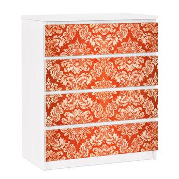 Carta adesiva per mobili IKEA - Malm Cassettiera 4xCassetti - Baroque Wallpaper