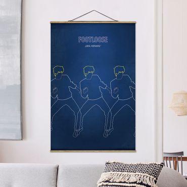 Foto su tessuto da parete con bastone - Poster del film Footloose - Verticale 3:2
