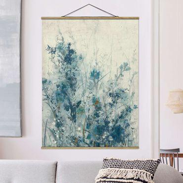 Foto su tessuto da parete con bastone - Blue Spring Meadow I - Verticale 4:3