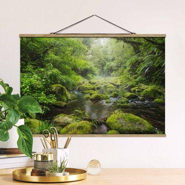 Foto su tessuto da parete con bastone - Baia di Plenty - Orizzontale 2:3