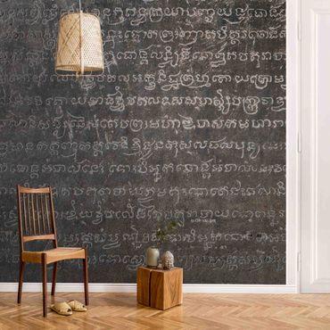 Carta da parati metallizzata - Cambodian Script