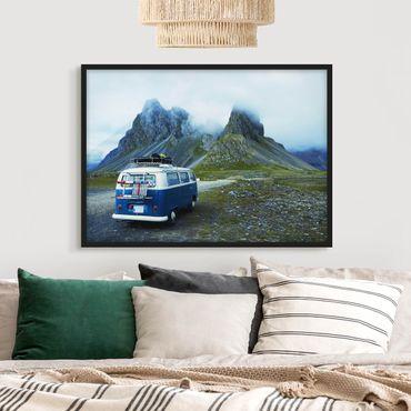 Poster con cornice - Camper in Islanda