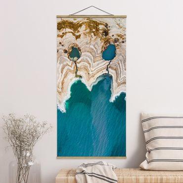 Foto su tessuto da parete con bastone - Laguna In Israele - Verticale 2:1