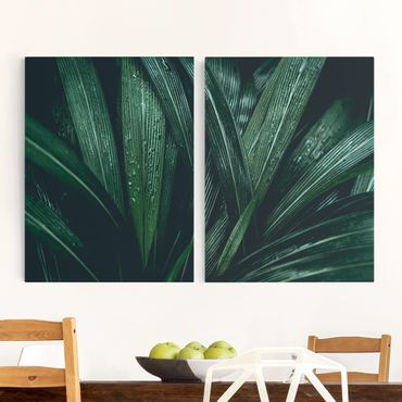 Stampa su tela - Green Palm Leaves - Verticale 4:3