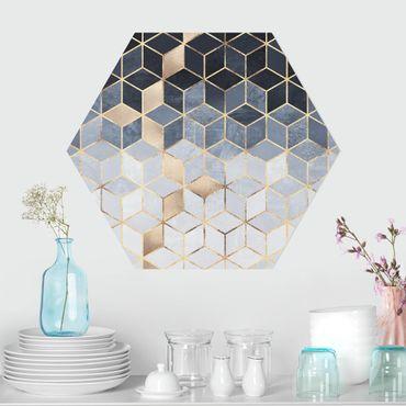 Esagono in forex - Bianco d'oro Geometria Blu