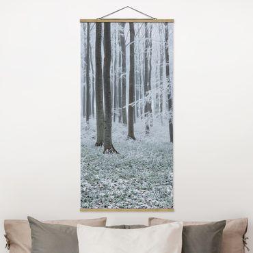 Foto su tessuto da parete con bastone - Prenota con brina - Verticale 2:1
