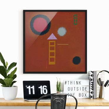 Poster con cornice - Wassily Kandinsky - Soothed - Quadrato 1:1