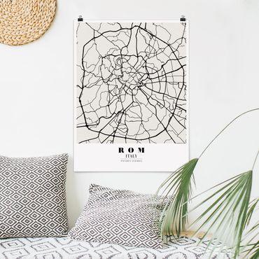Poster - Mappa Roma - Classica - Verticale 4:3