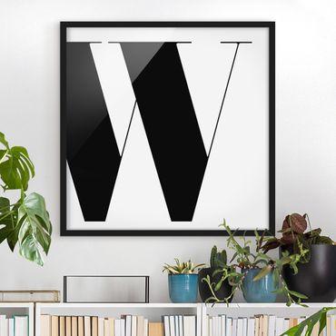 Poster con cornice - Antiqua Letter W - Quadrato 1:1