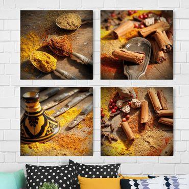Stampa su tela 4 parti - oriental spices