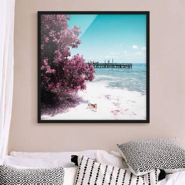 Poster con cornice - Paradise Beach Isla Mujeres - Quadrato 1:1