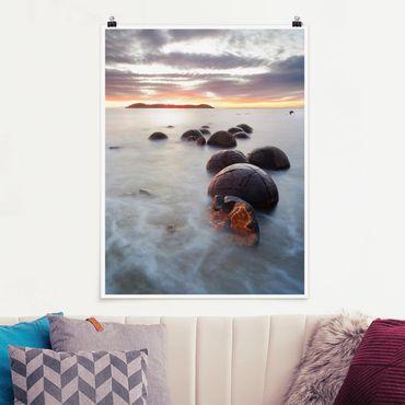 Poster - Moeraki Nuova Zelanda - Verticale 4:3