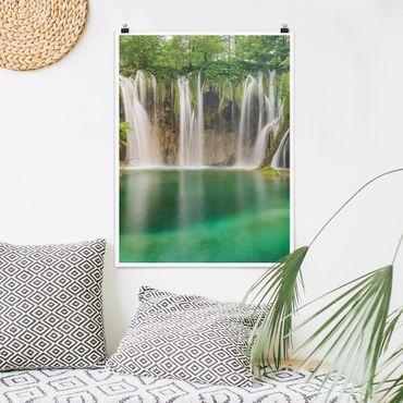 Poster - Cascata Laghi di Plitvice - Verticale 4:3