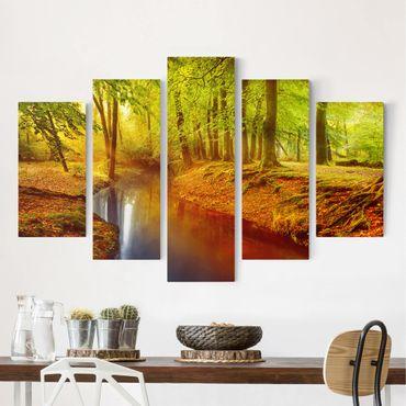 Stampa su tela 5 parti - autumn forest