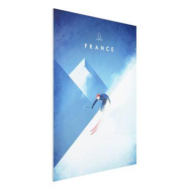 Stampa su Forex - Viaggi Poster - Sciare in Francia - Verticale 4:3