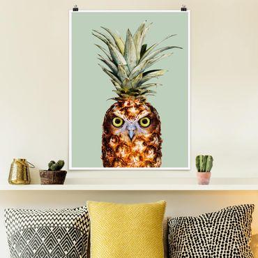Poster - Ananas con civetta - Verticale 4:3