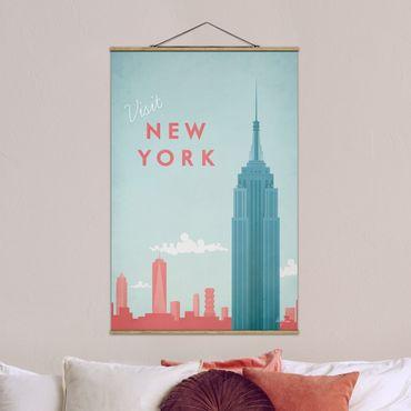 Foto su tessuto da parete con bastone - Poster Viaggi - New York - Verticale 3:2