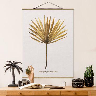 Foto su tessuto da parete con bastone - Gold - Palm Leaf - Verticale 4:3