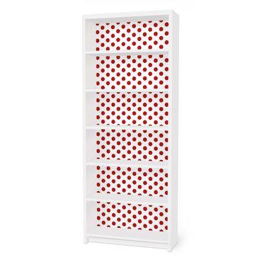 Carta adesiva per mobili IKEA - Billy Libreria - no.DS92 Dot Design Girly White