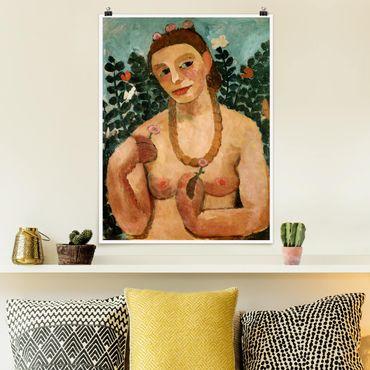 Poster - Paula Modersohn-Becker - Mezza Act con ambra collana - Verticale 4:3