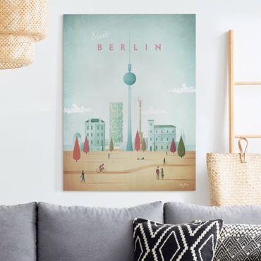 Stampa su tela - Poster viaggio - Berlino - Verticale 4:3