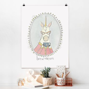 Poster - caffeina Unicorn - Verticale 4:3