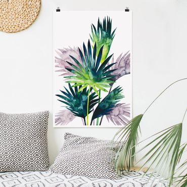 Poster - Exotic Foliage - Palma - Verticale 3:2