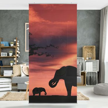 Tenda a pannello African Elephant Family 250x120cm