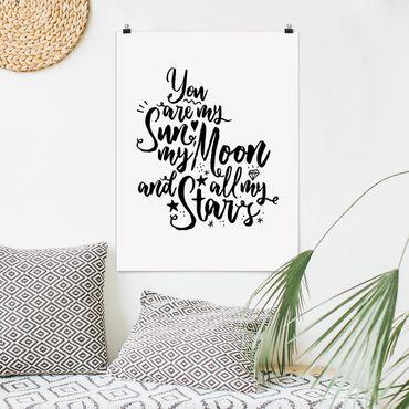 Poster - Tu sei il mio sole, la mia luna e tutti i miei Stars - Verticale 4:3