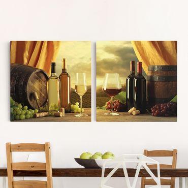 Stampa su tela - Wine With A View - Quadrato 1:1