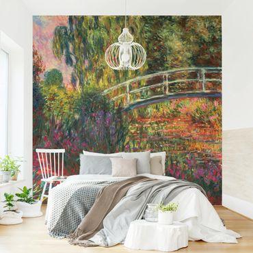 Carta da parati adesiva - Claude Monet - Ponte giapponese di Giverny- Formato quadrato