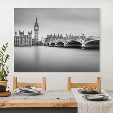 Stampa su tela - Ponte di Westminster e il Big Ben - Orizzontale 4:3