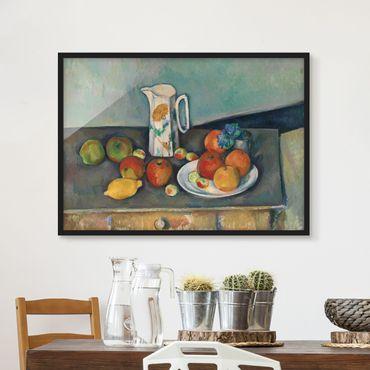 Poster con cornice - Paul Cézanne - Still Life Milk Jug - Orizzontale 3:4