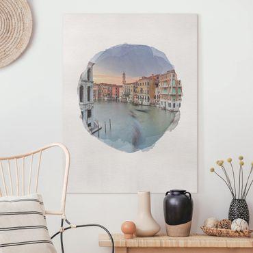 Quadri su tela - Acquarelli - Vista Canal Grande dal Ponte di Rialto di Venezia