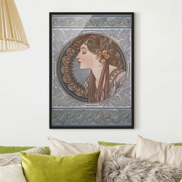 Poster con cornice - Alfons Mucha - Helena - Verticale 4:3