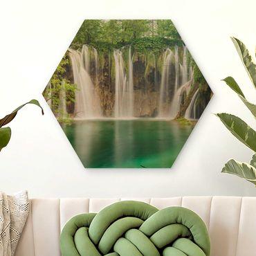 Esagono in legno - Cascata Laghi di Plitvice