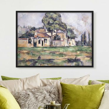Poster con cornice - Paul Cézanne - Banks Of The Marne - Orizzontale 3:4