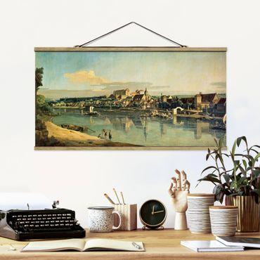 Foto su tessuto da parete con bastone - Bernardo Bellotto - View Of Pirna - Orizzontale 1:2