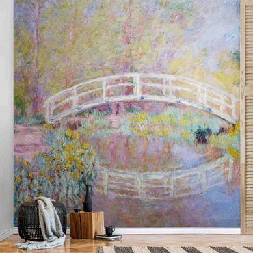 Carta da parati metallizzata - Claude Monet - Ponte del giardino di Monet