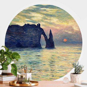 Carta da parati rotonda autoadesiva - Claude Monet - Rock Tramonto