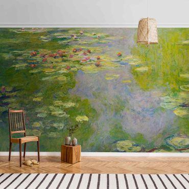 Carta da parati metallizzata - Claude Monet - Ninfee verdi