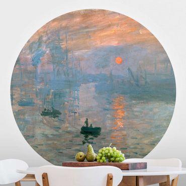 Carta da parati rotonda autoadesiva - Claude Monet - Impressione