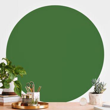 Carta da parati rotonda autoadesiva - Colore verde scuro